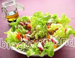 bio cuisine salade fraîcheur de quinoa et sa sauce tamari cuisine