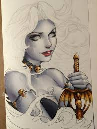 lady death sketch cover wip by colletteturner on deviantart