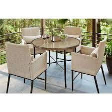 High Table Patio Furniture Bar Height Dining Sets Outdoor Bar Furniture The Home Depot