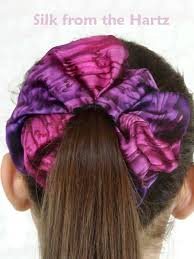 hair scrunchie purple silk hair scrunchies gift for women