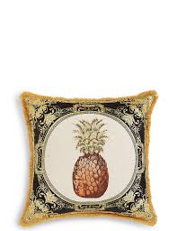 pineapple embroidered cushion m u0026s