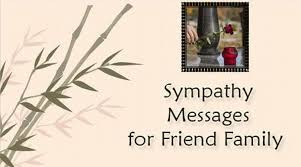 sympathy messages for friend s family
