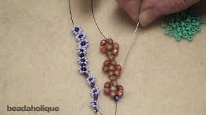 how to bead weave a daisy chain youtube