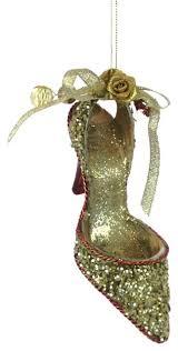 high heel shoe ornament gold contemporary ornaments