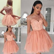 2017 cute long sleeve graduation dresses appliques beaded tulle