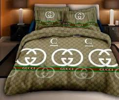 gucci bedding set light in net designer bed cover set