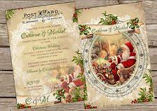 christmas wedding invitations christmas wedding invitations ebay