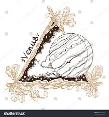venus planets stars solar system symbols stock vector 515797414