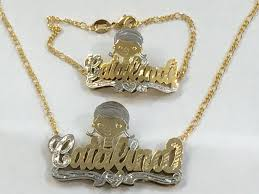 double plated necklace images Double plated name necklace prettyugly me jpg