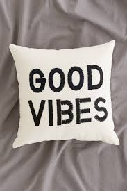 Home Decor Stores Like Urban Outfitters Magical Thinking Good Vibes Pillow Urban Outfitters