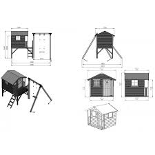 House With Tower Mercia Tulip Wooden Playhouse Wendyhouse With Tower