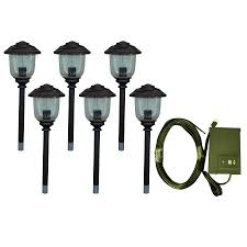 Portfolio Landscape Lighting Shop Portfolio 6 Path Light Rubbed Bronze Low Voltage 11 Watt