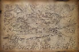 Medieval Maps Hand Drawn Medieval Town Map U2013 Thomas Schmall