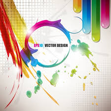 color paint splashes background 03 vector free vector in