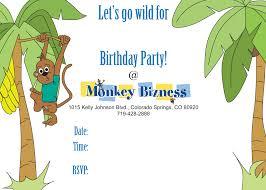 birthday invitations little monkey bizness colorado springs