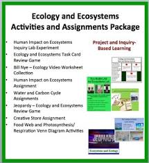 ecology and ecosystems activities and assessments package food