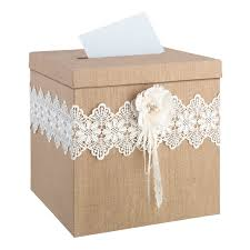 wedding gift boxes burlap wedding card box