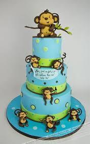 monkey baby shower cake monkey cake for baby shower monkey baby shower by cris711