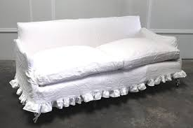 white linen sofa cover full bloom cottage white linen slip cover sofa antique