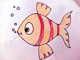 drawing how to draw fish and colour for kids art youtube