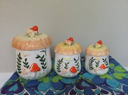 funky kitchen canisters 28 images 1000 images about kitchen funky kitchen canisters vintage kitchen canisters set of three funky mushrooms