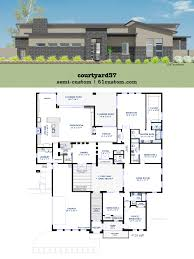 modern courtyard house plan 61custom contemporary southwest plans