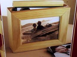 3 5 x5 photo album wood box frame photo album holds 48 3 5x5 in vinyl pocket