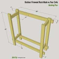 build your diy firewood rack from 2x4s or 4x4s using these 4 free