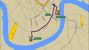 New Orleans Convention Center Map by Bacchus Parade Route Wwltv Com