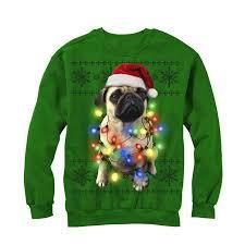 pug sweater s sweater pug lights sweatshirt walmart com