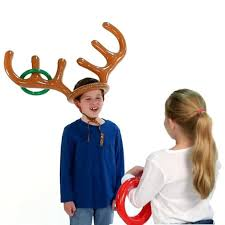 inflatable reindeer antler ring toss game the green head