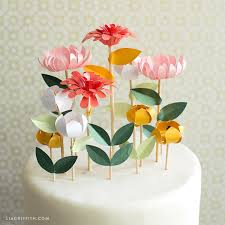 number cake topper diy flower cake toppers