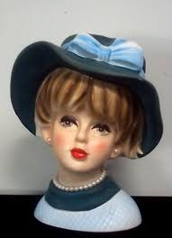 Napco Lady Head Vase 358 Best Antique Head Vases Images On Pinterest Vases Vintage
