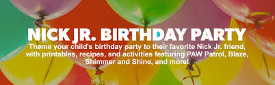nick jr birthday party nickelodeon parents