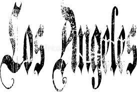 los angeles sign stock vector illustration of script 42572893