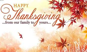happy thanksgiving from our family to your wishes card