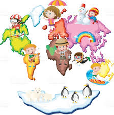 World Map Cartoon by World Map With Kids And Animals Stock Vector Art 686150002 Istock