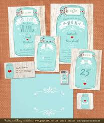 jar wedding invitations jar on light wood wedding invitation suite