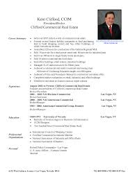 real estate resume real estate resume for new agents real estate resume