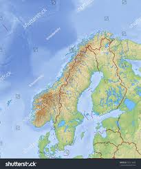 Map Of Norway Relief Map Norway 3drendering Stock Illustration 502113658