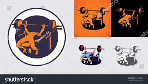Bodybuilder Bench Press Man Muscles Barbell Bodybuilder Bench Press Stock Vector 169384262