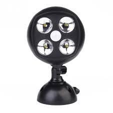 battery powered security light battery powered security light pir motion sensor spotlight