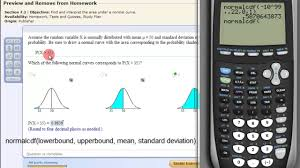 Normal Distribution Table Calculator Find The Area Under The Normal Curve With A Ti83 Or Ti84