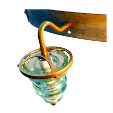 glass insulator light kit insulator light chandelier wine barrel hoop 4 580 lumen bulbs
