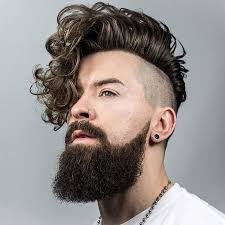 sexy styles for long curly layered hair using clips and combs braidbarbers and long curly hairstyle for men undercut sexiest