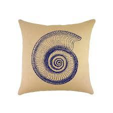 Coastal Home Decor Stores Navy Shell Burlap Pillow 16 Coastal Accent Loversiq