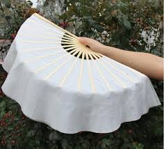hand held fans for church 40cm 15 5 inch hand held fans white silk bamboo folding fans