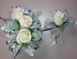 mint green corsage mint green silk corsage n boutonniere set by florescencebydesign