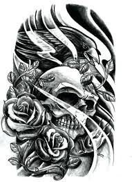 skulls designs skull roses sleeve by on library media