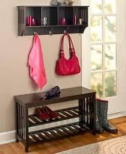entryway bench coat rack ebay